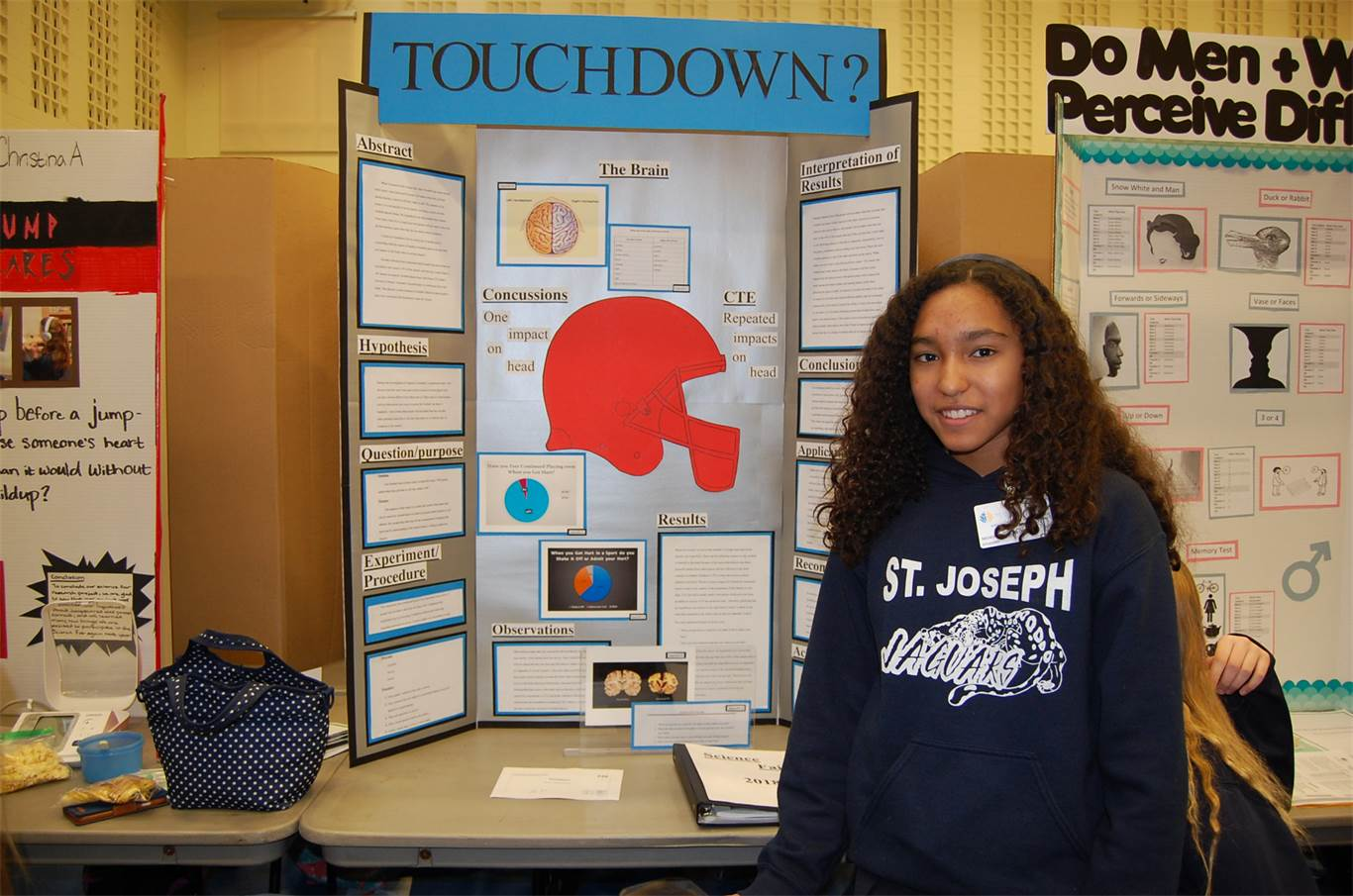 Students test the limits of science at annual science fair nichole fajardo orozco was inspired to do her science project on concussions and cte after sciox Gallery