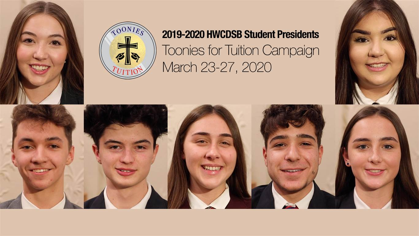 "On March 23-27, please share your ""Toonies for Tuition"""